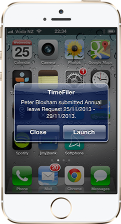 TimeFiler:Mobile notifications