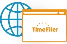 Using a mobile browser:TimeFiler